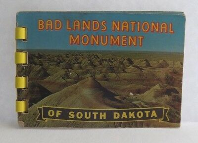 Vintage Souvenir Picture Book Badlands National Monument South Dakota