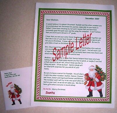Personalized Letter from Vintage Santa