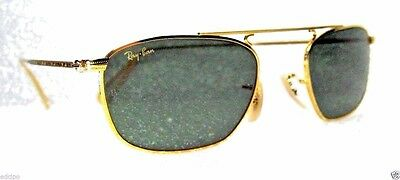 Ray-Ban USA NOS Vintage B&L Mod Aviator W2001 PinpointEtched Gold New Sunglasses