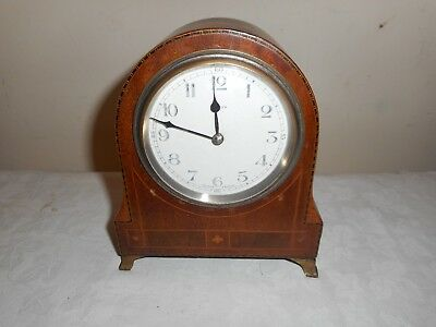 Antique, Dome Top Mantle Clock in Beautiful Inlaid Case, Made in France. Working