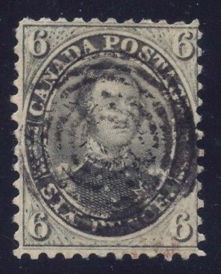 Canada 1859 Prince Albert 6d perforated pence Perf 11 3/4 #13 7RC