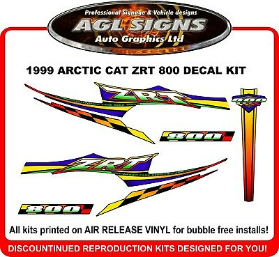 1999 ARCTIC CAT ZRT 800 Reproduction Decal Kit      600 also available