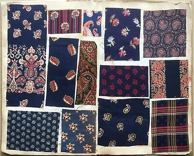 Beautiful 19th Century (1847-1880) French Printed Cotton Swatch Book  (831)