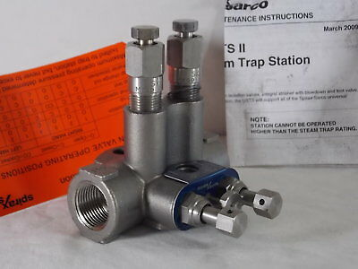 "Spirax Sarco 73483 - 3/4"" NPT USTSII Universal Steam Trap Station RH, Stainless"