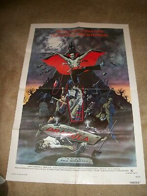 """Andy Warhol """"Dracula"""" vintage rated X movie style B poster 1975  27"""" x 42"""""""