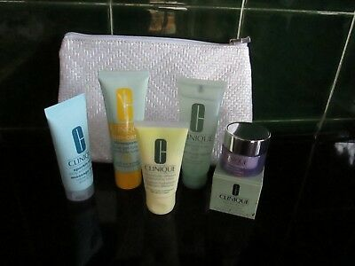 Clinique  beauty  products   mixed items with bag