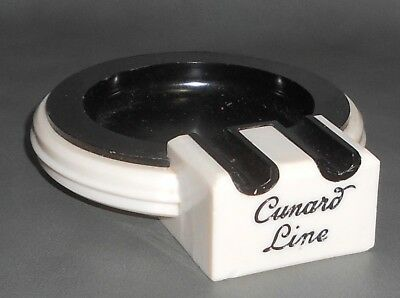 c1950 Vintage Cunard Line Plastic Ashtray