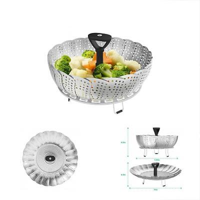 Collapsible Steamers Vegetable Basket For Large And Small Pan - 100% Stainless