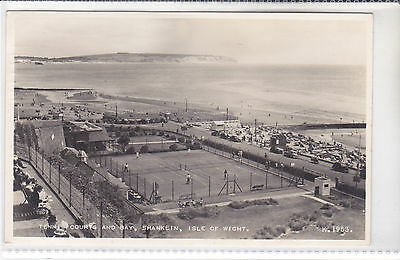 Rare Vintage Postcard Tennis Courts And Bay, Shanklin, Isle Of Wight
