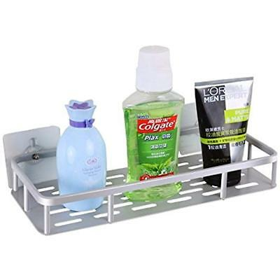 10kg Bathroom Shelves Tested No Drill Wall Mount Shelf Adhesive Shower Rack, For