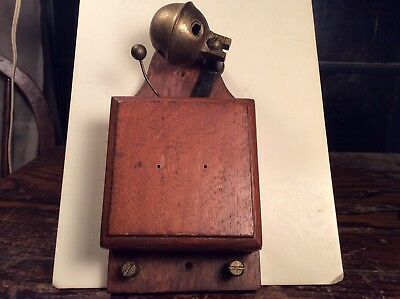 Electric Door Bell Railway Butler Alarm Shop Bell Wood Vintage Antique