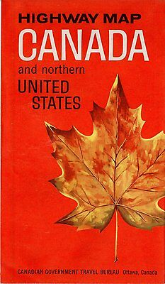 Highway Map Canada and Northern United States 1964