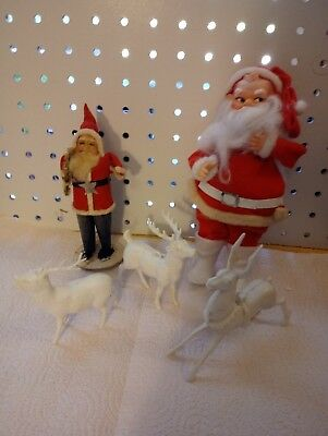 Anyique/Vintage Santas and Reindeer lot!!!