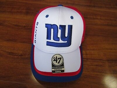 51717974525 NEW New York Giants 47 Crash Line Contender NFL Hat Cap Stretch Fit OSFA