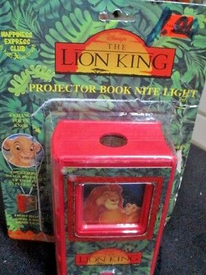 The Lion King Projector Book Night Light By Disney New Rare