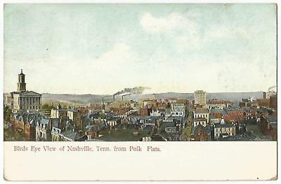 Nashville Tennessee TN ~ Panoramic Town View From Polk Flats 1909