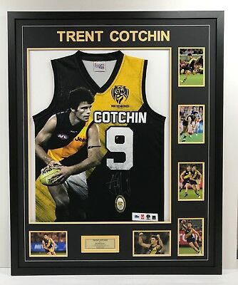 Trent Cotchin Richmond Tigers Signed Framed Afl Jumper Dustin Martin Brownlow