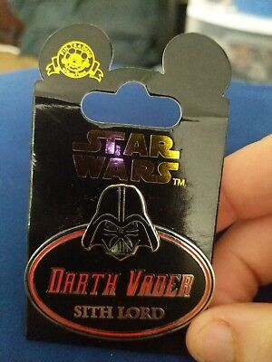Star Wars Disney Pin Darth Vader Sith Lord Cast Exclusive 2015 Name Tag