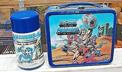 1984 He-Man And Masters Of The Universe Metal Lunch Box With Thermos.