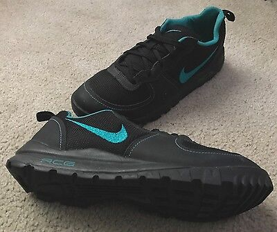 size 40 4443b 1b8c0 Nike Takos Acg Low Black teal Sneakerboot trail Hiking Mens Size 11 (317542