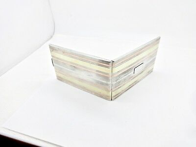 Vintage Napier 14K Gold Sterling Silver Cigarette,i.d.,document,credit Card Case