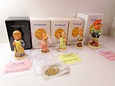5 Goebel Hummel Lot Collection Brand New In Boxes Hum 727, 321, 173, 2049, 43