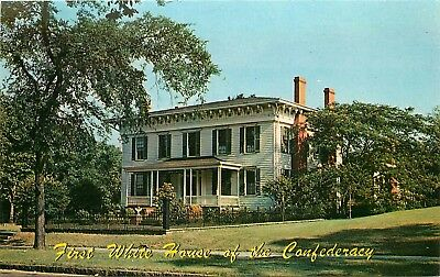 Montgomery, AL, First White House of the Confederacy, Vintage Postcard c8196