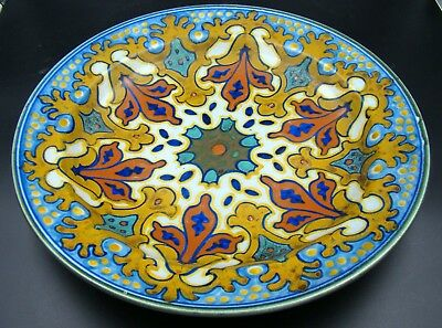 Colorful Gouda HOLLAND Floral Design Wall Charger Designed by Kreta ca. 1940