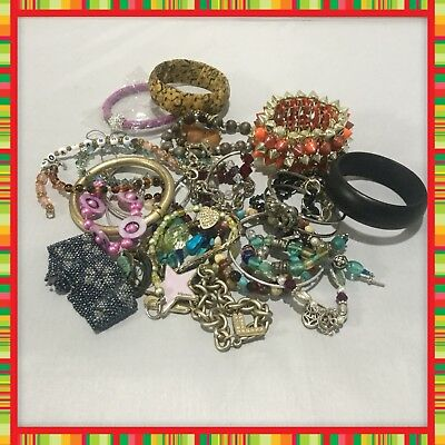 Estate Find Of Vintage To Present Womens Costume Bracelets 30 Piece Lot