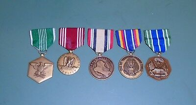 Lot of 5 US Military Army Uniform Achievement Commendation Conduct Iraq Medals