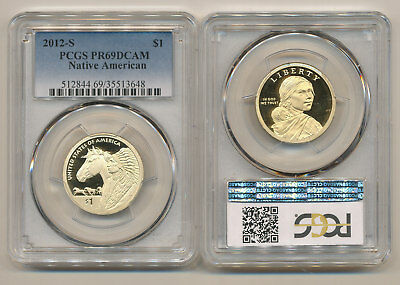 2012-S PCGS PR69 Proof Native American Dollar DEEP CAMEO Sacagawea PF69