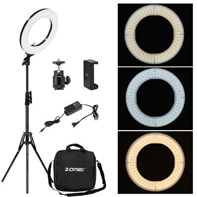 """Zomei 14"""" LED Dimmable Photography Light Ring Lamp For Makeup Camera Video Live"""