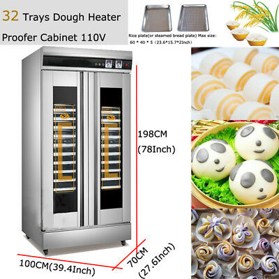 110V Stainless Steel Dough Proofer And Warmer Machine Baking & Dough Equipment