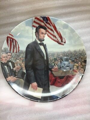 Abraham Lincoln: Man of America plate