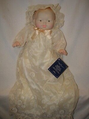 """21"""" Prince William Baby Doll In Christening Gown By EG Goldberger 1984"""