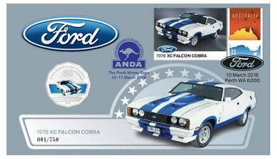 Ford XC Falcon Cobra - 2017 50c Stamp and Coin Cover PNC