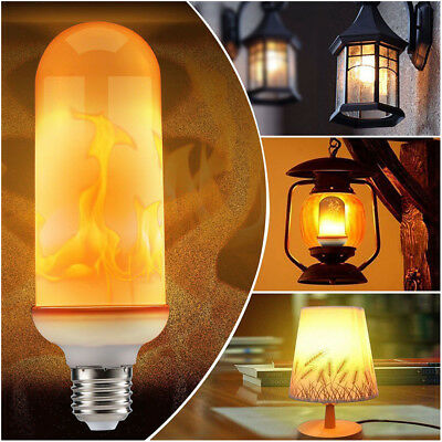 LED Burning Light Flicker Flame Lamp Bulb Fire Effect Decorative For Xmas Party