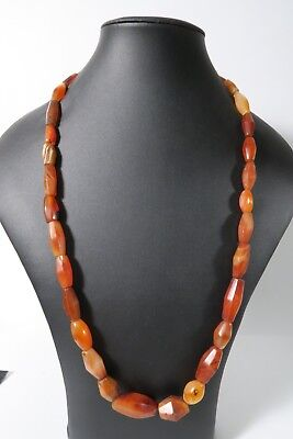 Antike Achatperlen Cambay AA57 Antique Old Agate Stone trade beads Afrozip