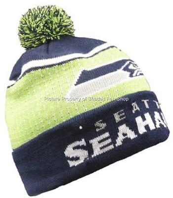 6d47e9019 SEATTLE SEAHAWKS Big Logo Full Knit Light Up Beanie Free Replacement  Batteries