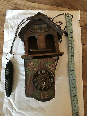 vintage german cuckoo clock,black forest cuckoo clock spares repairs Restoration