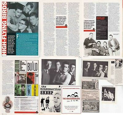 THE HOUSEMARTINS : CUTTINGS COLLECTION -adverts interview-