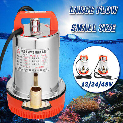 12-48V 150-280W Electric Large Flow Solar Submersible Water Pump Farm Ranch Tool