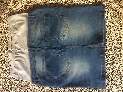 MAMALICIOUS MATERNITY /'MLBOLIVIA/' LIGHT BLUE DENIM SHORTS ALL SIZES BNWT RRP £40