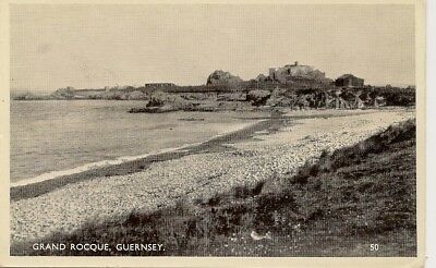 GRAND ROQUE-Old Postcard-Guernsey-Channel Islands.
