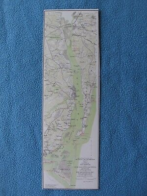 Civil War Map of the North Carolina Coast & Approaches to Wilmington - FRAME IT