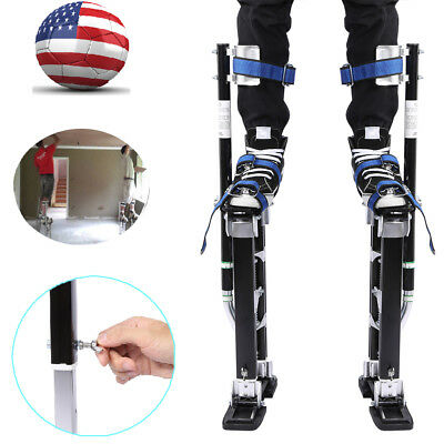 "24"" - 40"" Drywall Stilts Painters Walking Taping Finishing Tools Aluminum USA"