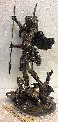 """10"""" St Saint Michael Archangel Victory Over Lucifer Statue Figurine.Christianity"""