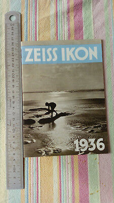 Catalogue Publicitaire Appareil Photo Zeiss Ikon 1936 TBE Vintage Photographie