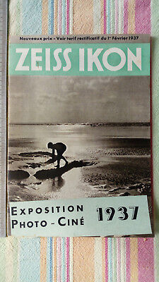 Catalogue Publicitaire Appareil Photo Zeiss Ikon 1937 TBE Vintage Photographie