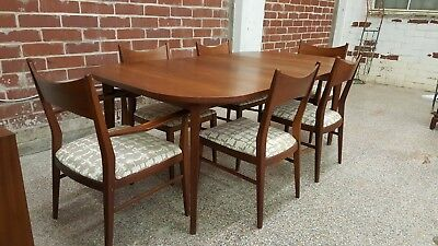 Vintage Mid Century Foster McDavid Dining Table and 6 Chairs